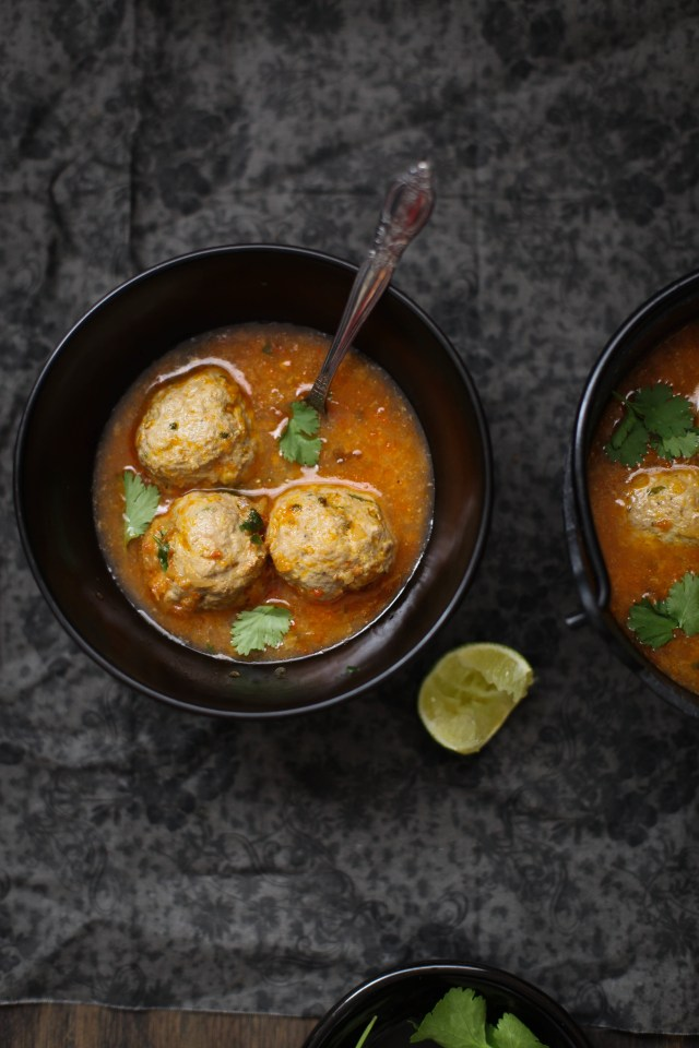 Indian Spiced Mutton Meatball Soup, Sinfully Spicy