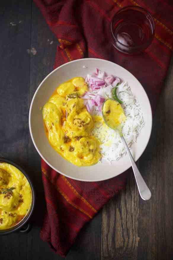 Kadhi Pakora – Chickpea fritters in yogurt gravy , (glutenfree) Sinfully Spicy