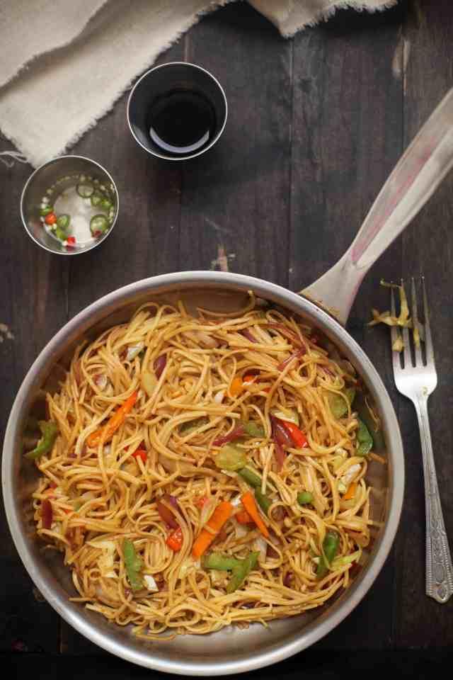 Vegetable Hakka Noodles01, SInfullySpicy