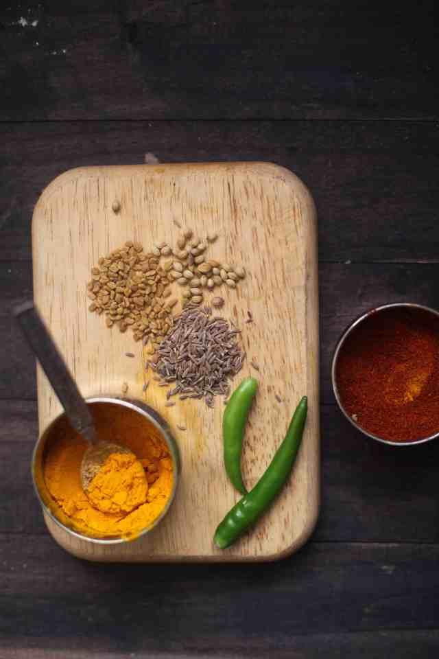 Spices, Kadhi Pakora - Chickpea fritters in yogurt gravy , (glutenfree) Sinfully Spicy