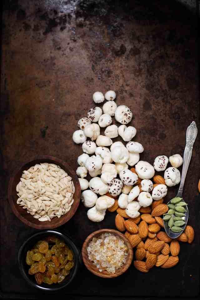 Sinfully Spicy - Mewa Chikki, Nut & Seed Brittle 03, Ingredients (Gluten-Grain free)