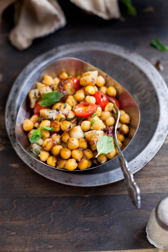Sinfully Spicy- Warm Chickpea Chaat/Indian Salad 003