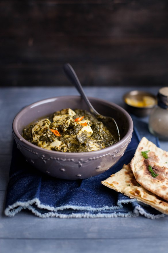 Sinfully Spicy- Palak (Saag Paneer),Spinach With Indian Cheese001