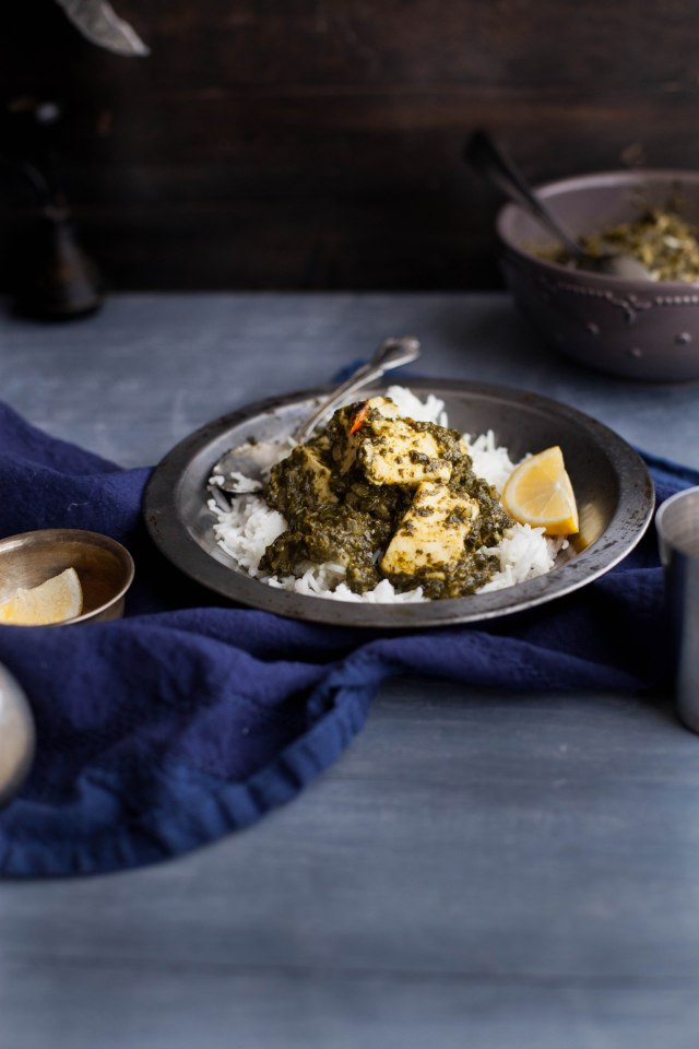 Sinfully Spicy- Palak (Saag Paneer),Spinach With Indian Cheese002