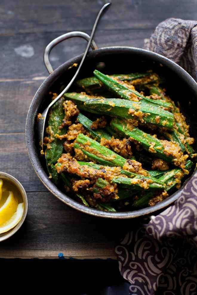 Sinfully Spicy - Bharwan Bhindi , Stuffed Spicy Okra