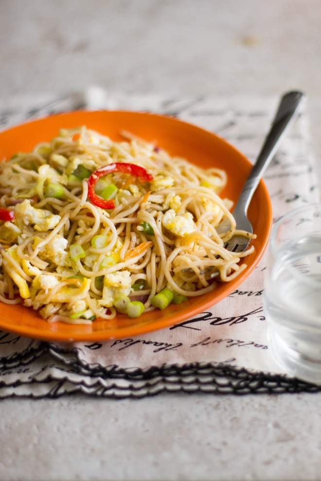 Sinfully Spicy : Green Chili & Garlic Noodles #indochinese #recipe