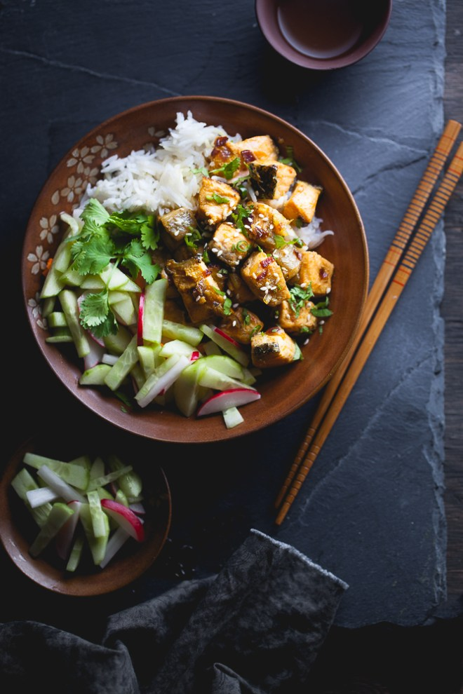 Sinfully Spicy - Indo Chinese Salmon Bowl for One