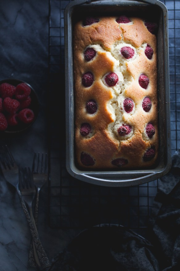 Sinfully Spicy - One bowl Rosewater & Raspberry Loaf Cake