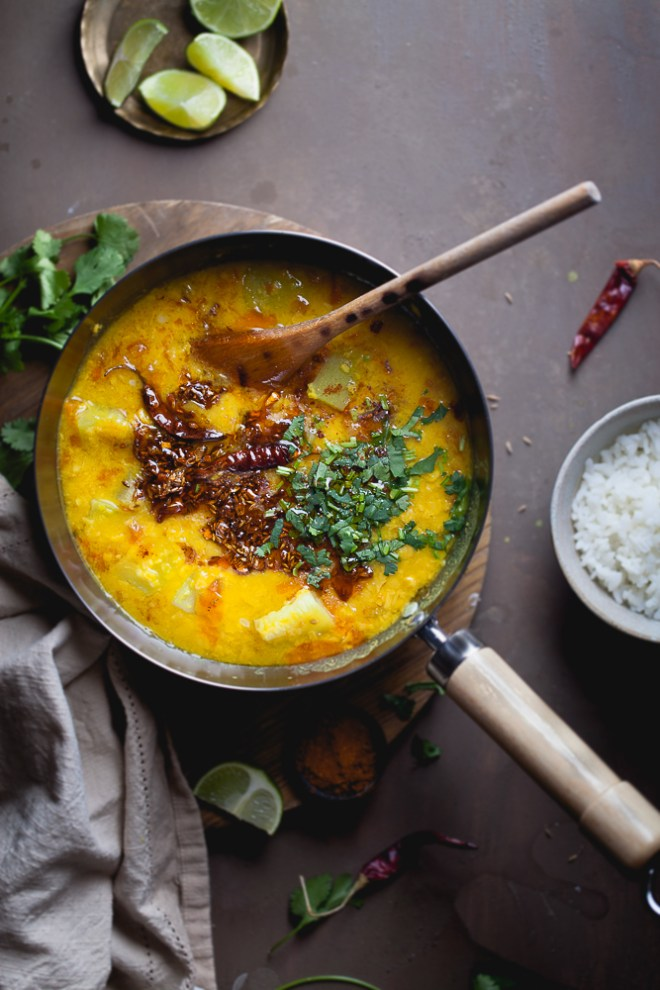 Sinfully Spicy: Lauki Vaali Chana Daal (Bengal Gram Lentils With Summer Squash)