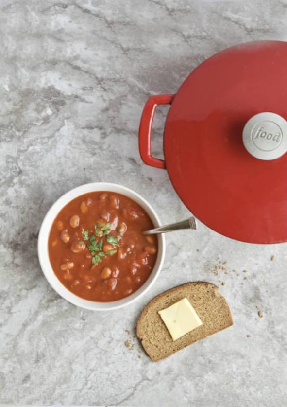 bowl of bean chili