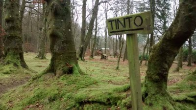 Wiston Lodge grounds - Tinto sign