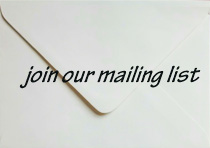 Imagebof an envelope - join our mailing list here