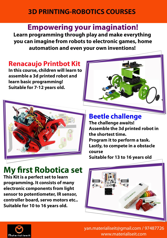 Robotics Brochure Maker Faire Singapore