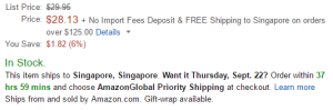 amazon global supported