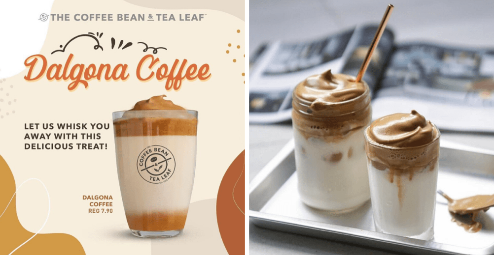 Coffee Bean Singapore Is Now Offering Their Version Of The Popular Dalgona Coffee Singapore Foodie