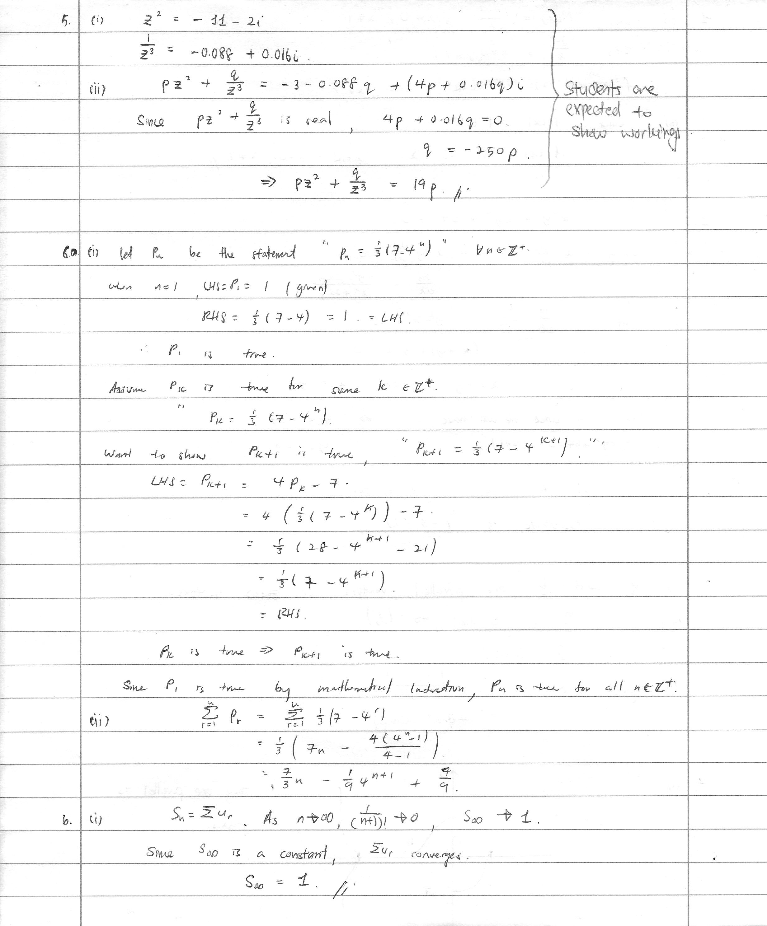 Suggested Answers To A Level H2 Math Paper 1