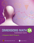 Dimensions Math textbook 7A