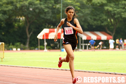 At the rate she is progressing, 400m hurdler T. Piriyah is a good bet to break the women's national record which has been around since 1984. Picture courtesy of redsports.sg