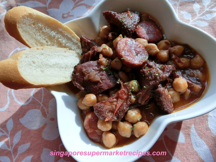 slow cook recipes ndash portuguese tripe chickpea stew goodness in