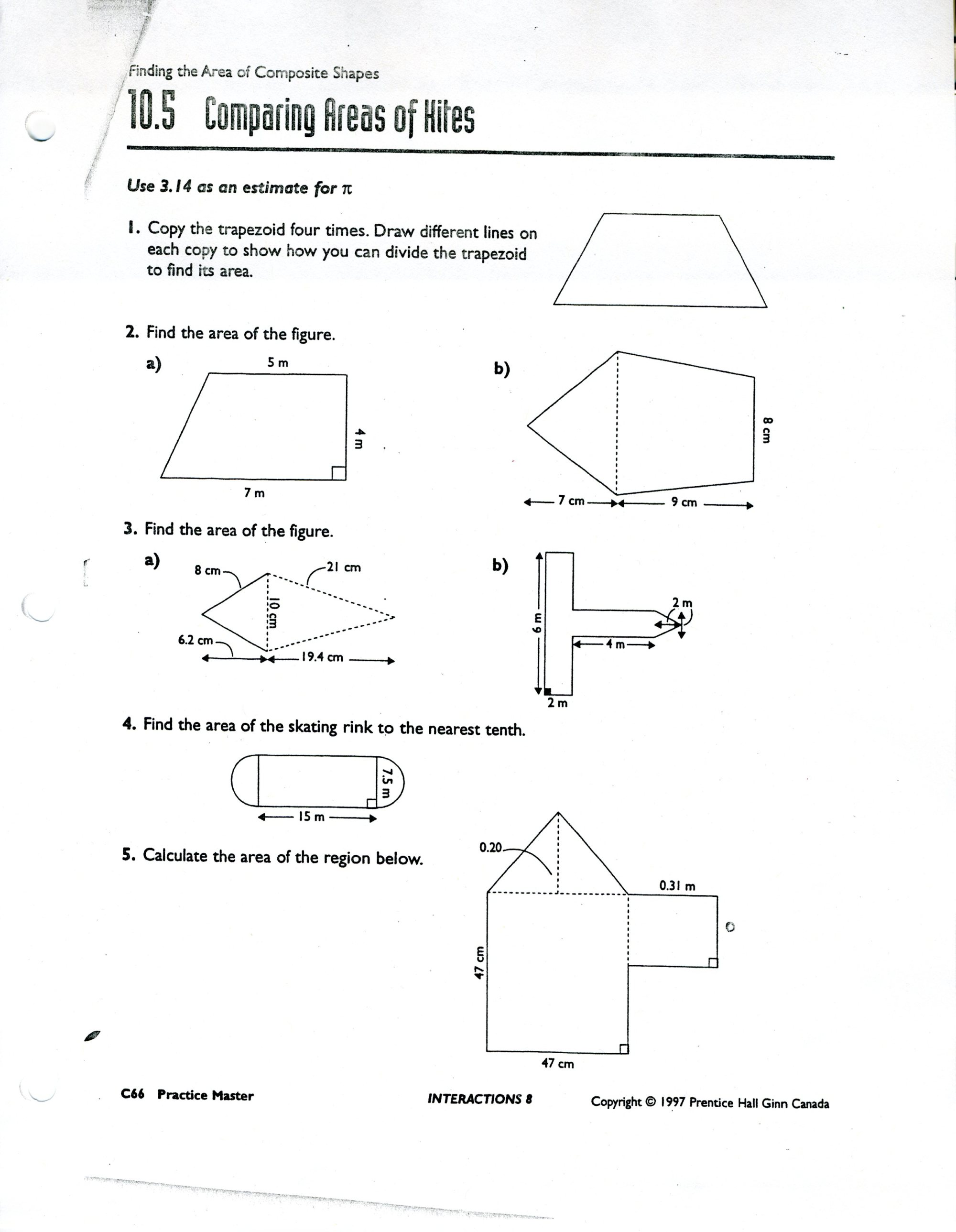 hight resolution of Area Of Composite Figures Worksheet 7th Grade   Printable Worksheets and  Activities for Teachers