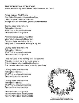 West Virginia Country Road Lyrics - LyricsWalls