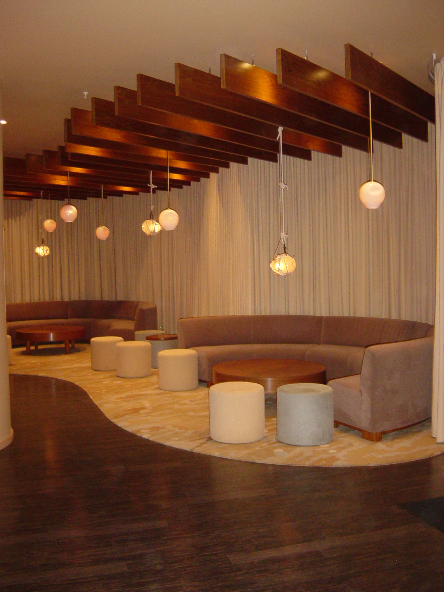 modern living room wall art window treatments suspended-architectural-ceiling-cloud-systems-lightweight ...