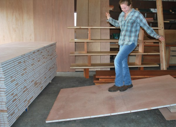High-strength-sandwich-panel - -warping Patented Wooden