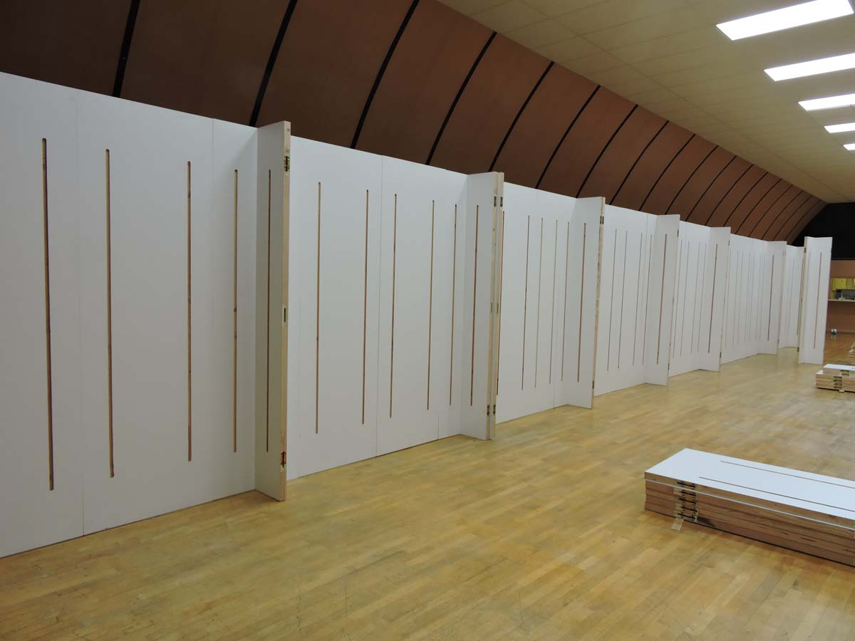 70 feet of lightweight high strength trade show display wall panels for back wall  Nonwarping