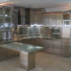 Stainless Steel Wall Panels Kitchen Commercial Tops Wood Lowes Cabinets ...