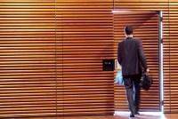 Business man door  Non-warping patented wooden pivot door ...