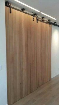 sliding interior walls wooden barn door style  Non ...