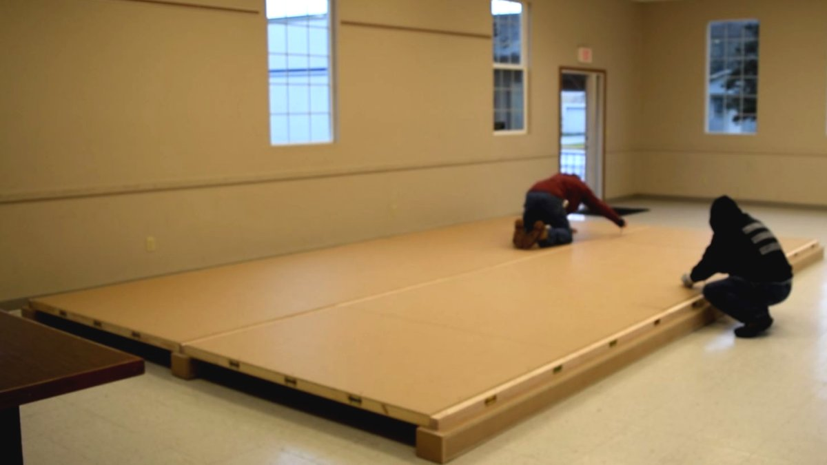 How to Build a Portable Floor  Nonwarping patented