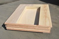 Insulated Plywood  Non-warping patented wooden pivot door ...
