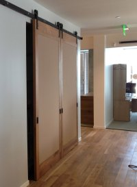 room dividers nyc  Non-warping patented wooden pivot door ...
