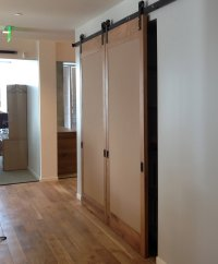 interior barn doors  Non-warping patented wooden pivot ...