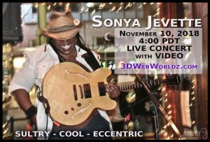 4pm PT Sonya Jevette Live Video on SG's 3DWebWorldz