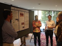 Students from the 2015 field school presenting their posters at last year's SEAC meeting in Nashville, TN.