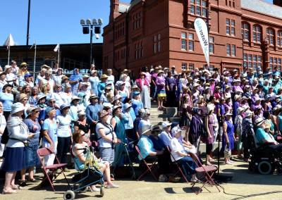 The full choir from Sing for Water Cardiff i 2017