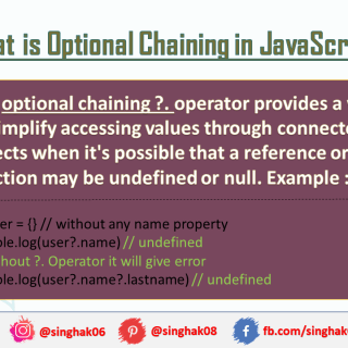 Optional Chaining Operator