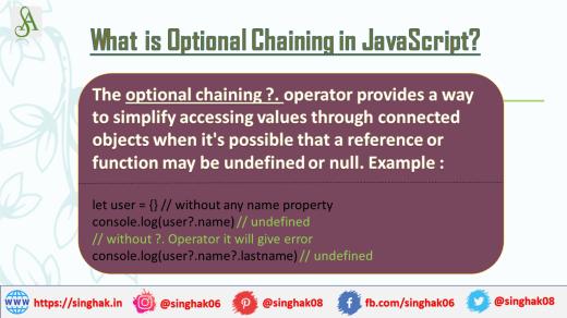 Optional Chaining Operator