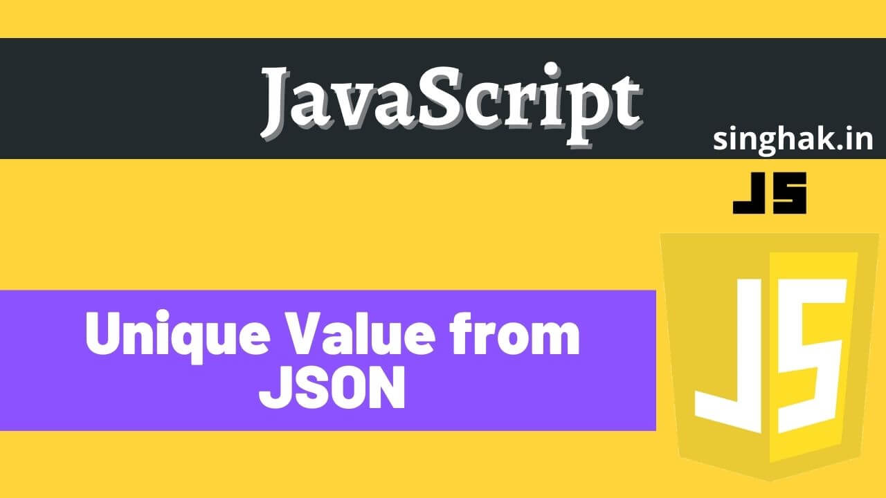 Get Distinct/Unique value from JSON | Unique value from JSON in angular
