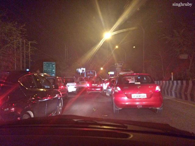 Insane traffic on the way back home from work.