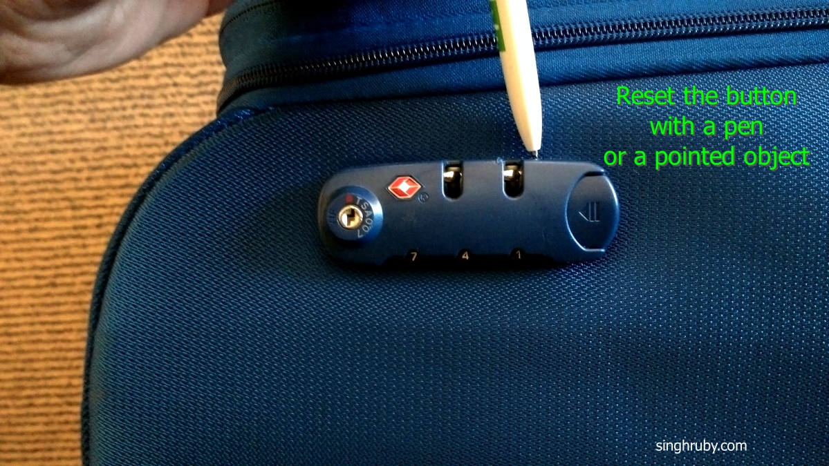 How to reset the TSA lock on your luggage - Life and Its