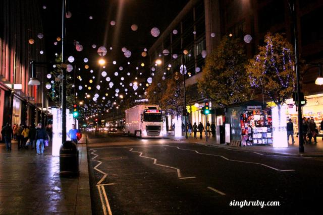 London Street lit up