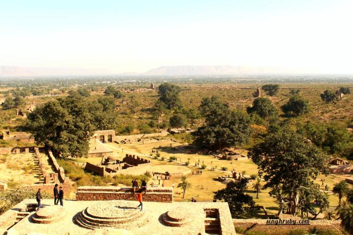 View from the top at Bhangarh Fort