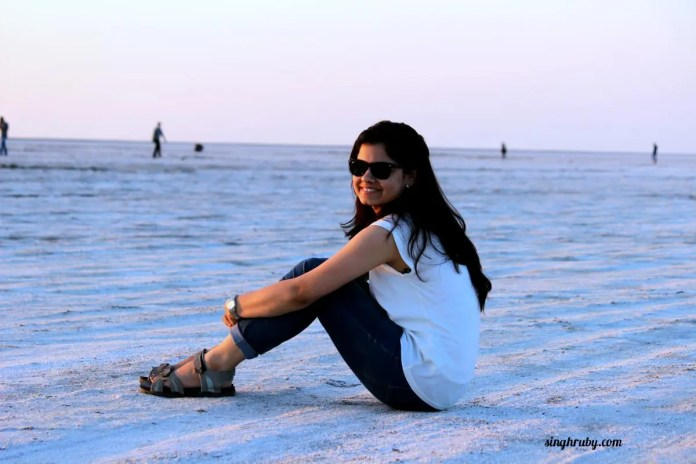 Happy me at Rann of Kutch