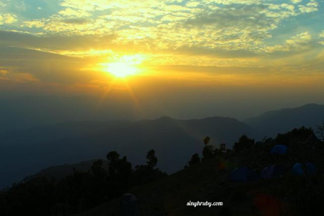 Sunset at Khatiyan Base camp
