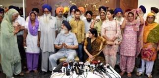 Sushma Swaraj and CM Badal meet families of kidnapped Punjabis in Iraq
