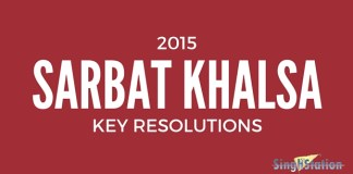 SARBAT KHALSA 2015 resolutions