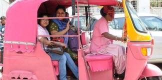 pink e-rickshaws
